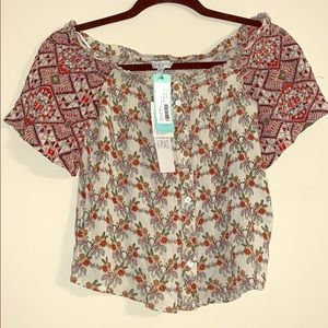 NWT Patrons of Peace off the shoulder top